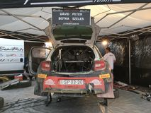 Cyprus Rally Pit stop Royalty Free Stock Photography