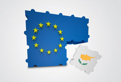 Cyprus removed from the European Union. Puzzle showing Cyprus removed from the European Union Stock Photo