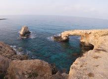 cyprus Rocce Seaview Fotografia Stock Libera da Diritti