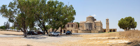 Cyprus. The ruins of the old Church in the city of Famagusta. The photo was taken in the city of Famagusta in Cyprus. Panorama pieced together from multiple Stock Image