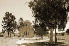 Cyprus. The ruins of the old Church in the city of Famagusta. The photo was taken in the city of Famagusta in Cyprus. Panorama pieced together from multiple Stock Images