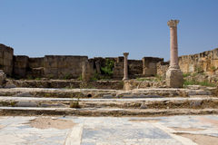 Cyprus. Ruins of the Roman settlement Salamis (IV century BC). The photo was taken at the island Kyprus. Panorama pieced together from multiple photos Stock Photography