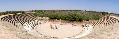 Cyprus. Ruins of the Roman settlement Salamis (IV century BC). View of the ancient theatre. Stock Photography