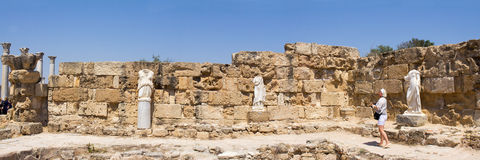 Cyprus. Ruins of the Roman settlement Salamis (IV century BC). View baths Royalty Free Stock Photos