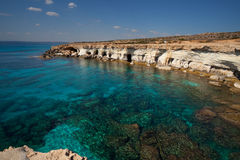 Cyprus sea caves Royalty Free Stock Image