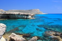 Cyprus Sea Caves Royalty Free Stock Photography