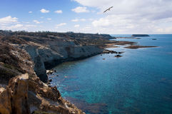 Cyprus sea coast Royalty Free Stock Image