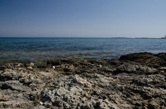 Cyprus seacoast. At Protaras area Royalty Free Stock Photo