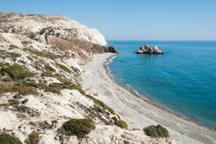 Cyprus seashore. Near Pafos with nobody Royalty Free Stock Photos