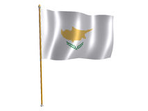 Cyprus silk flag Royalty Free Stock Photography