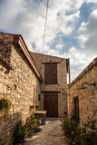 Cyprus Small Village. Streets in the summer Royalty Free Stock Photo