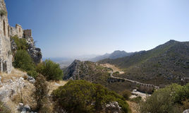 Cyprus St. Hilarion. Ruins of St. Hilarion castle erected in late 11th century in Cyprus royalty free stock photography