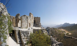 Cyprus St. Hilarion. Ruins of St. Hilarion castle erected in late 11th century in Cyprus royalty free stock images
