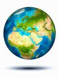 Cyprus ter wereld met witte achtergrond Royalty-vrije Stock Afbeelding