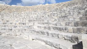 Cyprus - Theatre at the Kourion archaeological site. Cyprus - Pan across theatre at the Kourion archaeological site stock video footage