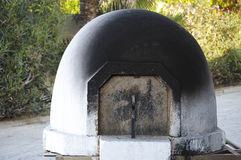 Cyprus traditional domed wood burning stove Stock Photo