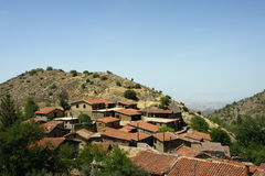 Cyprus village. Ficardou village  not far away from Nicosia Royalty Free Stock Image