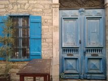 Old city. Build. Cyprus . Window. Old build. Street. Limassol. Old city. Architecture. Holliday. Vacation. Trip. Travel Royalty Free Stock Photography