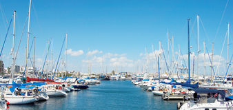 Cyprus yachts Royalty Free Stock Image