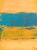 Cyraneczka i Pomarańczowy Abstrakcjonistycznej sztuki obraz Zdjęcia Royalty Free