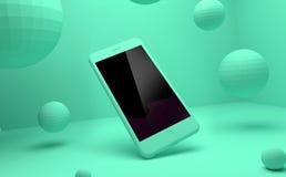 Cyraneczka IPhone Na cyraneczki tle Zdjęcia Stock