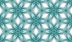 Cyraneczka kalejdoskopu kwiaty - Tileable wzór Zdjęcie Stock