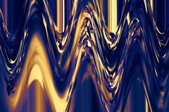Cyraneczka & złoty ocieniony tło ciekły pluśnięcie muśnięć uderzeń farba Dzisiejsza ustawa Abstrakt barwiąca powierzchnia ilustracji