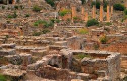 Cyrene archeologiczny miejsce, Cyrenaica, Libia - UNESCO światowego dziedzictwa miejsce zdjęcie royalty free