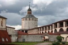 Cyril-Belozersky Klooster, Kirillov, Rusland Stock Afbeelding