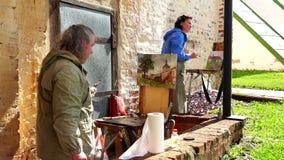 Cyril Belozersky monaster artyści malują koloru dziejowego obrazek past wieki i rok zdjęcie wideo
