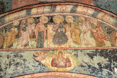 Cyril-Belozersky Monastery. Wall and ceiling paintings Royalty Free Stock Images