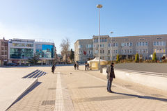 Cyril and Methodius Square in the center of Bourgas, Bulgaria Royalty Free Stock Photos