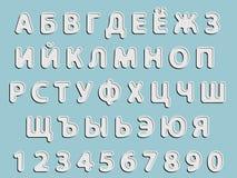 Cyrillic alphabet and numeral Royalty Free Stock Photos