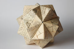 Cyrillic Origami Ball Stock Image