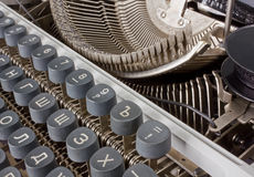 Cyrillic Typewriter Royalty Free Stock Photography
