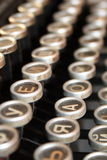 Cyrillic typewriter keys Stock Photo