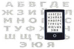 Cyrillic van de Ebooklezer Royalty-vrije Stock Afbeelding