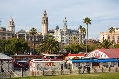 Cyrków domy w Barcelona Zdjęcie Stock