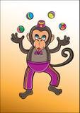 cyrk małpa Obraz Royalty Free