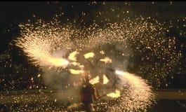 cyrk ogień show Zdjęcia Royalty Free