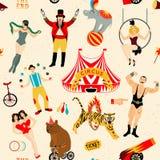 Cyrka set Ilustracja cyrkowe gwiazdy Zdjęcie Royalty Free