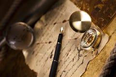 cyrklowa ciemna złota mapa Fotografia Stock