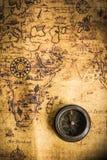 cyrklowa stara mapa Fotografia Royalty Free