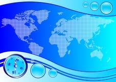 cyrklowej mapy wektoru świat Zdjęcia Stock