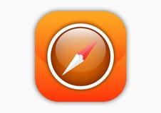 Cyrklowej mobilnej ikony pomarańczowy kolor Zdjęcia Royalty Free