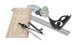 cyrklowi drzwiowej gałeczki władc narzędzia obrazy stock