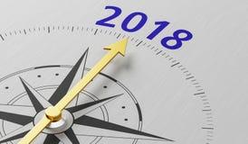 Cyrklowy igielny wskazywać 2018 Obrazy Stock
