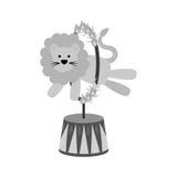 Cyrkowa lew kreskówka Zdjęcia Royalty Free