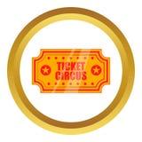 Cyrkowa przedstawienie papieru biletów ikona royalty ilustracja