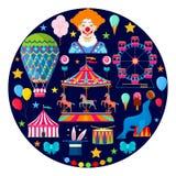Cyrkowe i rozrywkowe ikony zdjęcie royalty free